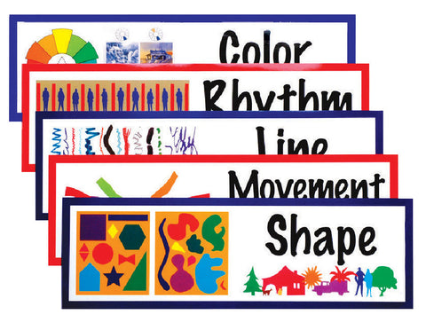 ART DISPLAY CARDS ELEMENTS AND PRINCIPLES OF DESIGN SET OF 14