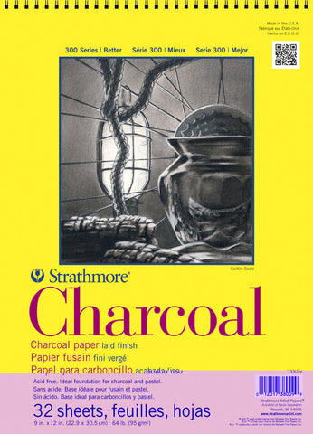 PAD CHARCOAL PAPER 300 SERIES 9X12 32 SHT