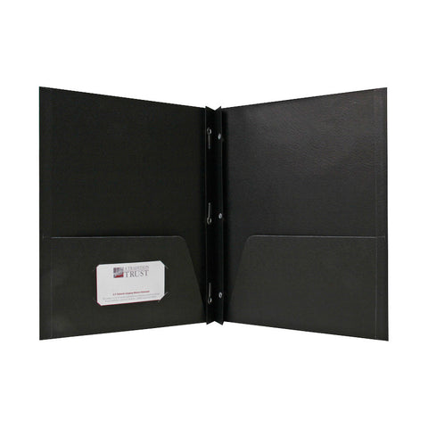 2 POCKET FOLDERS W/FASTENERS 1/2'' CAP LETTER BLACK