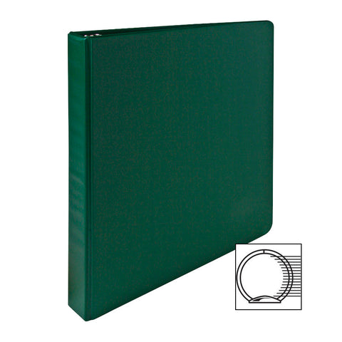 3 RING BINDER 1'' CAPACITY 11''X8 1/2'' GREEN
