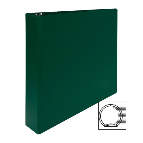 3 RING BINDER 1 1/2'' CAPACITY 11''X8 1/2'' GREEN