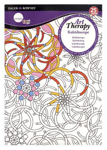 ART THERAPY COLORING BOOK KALEIDOSCOPE SMALL
