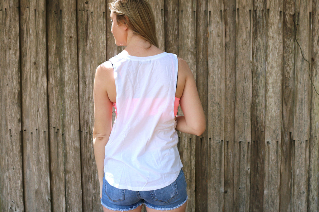 Floral American Flag Tank
