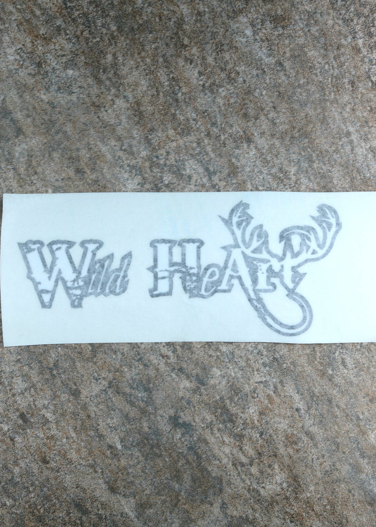 Rustic Wild Heart Decal
