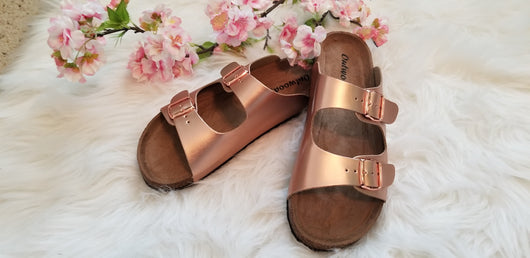 ROSE GOLD BUCKLE SANDAL