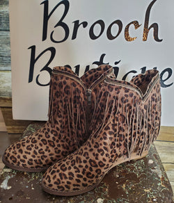 VERY G LEOPARD WENDY FRINGE BOOT
