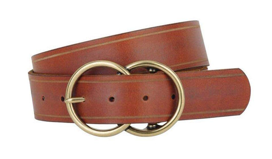 BROWN DOUBLE RING BELT
