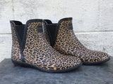 LONDON FOG LEOPARD RAIN BOOTS