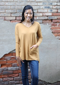 BRONZE SWEATER W/ 1 POCKET
