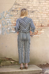 BLACK STRIPE JUMPSUIT