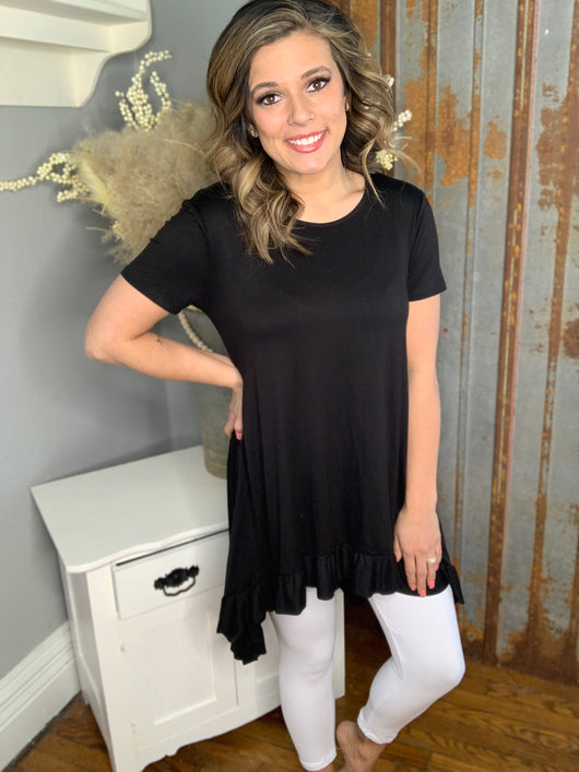 BLACK HI LOW TUNIC