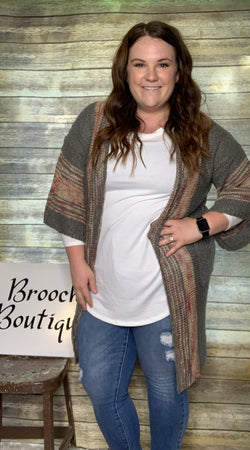 ASH BOHO STRIPED CARDIGAN