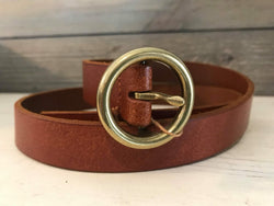 BROWN SINGLE RING BELT