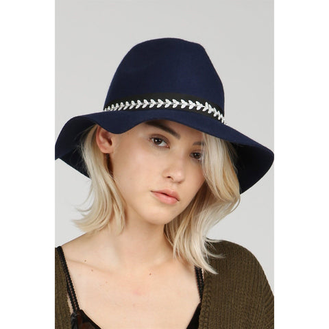 The Panama Hat- Navy