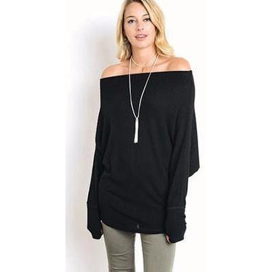 Lazy Sunday Top - Black