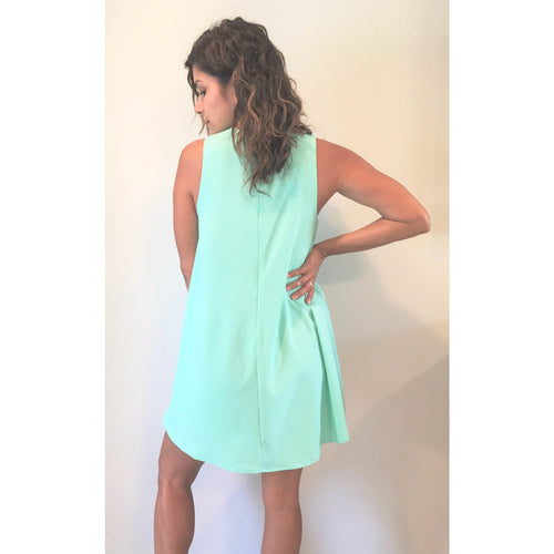 Minty Fresh Cut-Out Dress