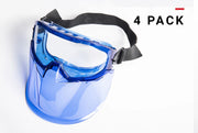 Safety Goggles with Face Shield 4-pack