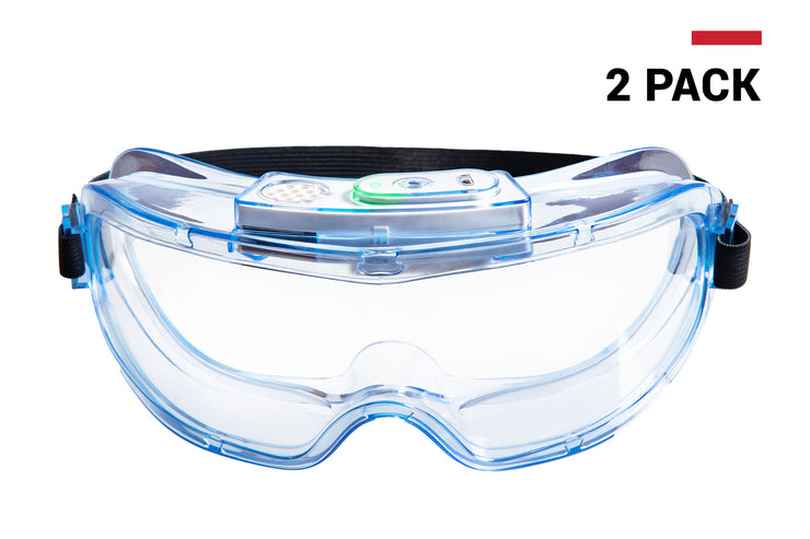 PanoShield™ Electronic Anti-Fog Goggles 2-pack