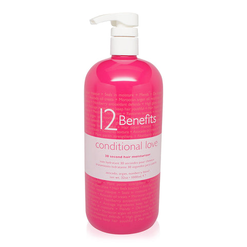 12 Benefits Conditional Love 30 Second Hair Moisturizer Conditioner 32 Oz
