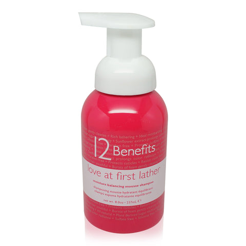 12 Benefits Love at First Lather Mousse Shampoo 8 oz