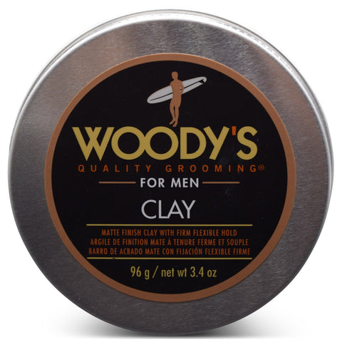 WOODY'S -For Men Matte Finish Clay 3.4 oz