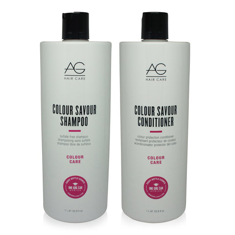 AGHAIR ~ COULOUR SAVOUR SHAMPOO & CONDITIONER LITER COMBO PACK