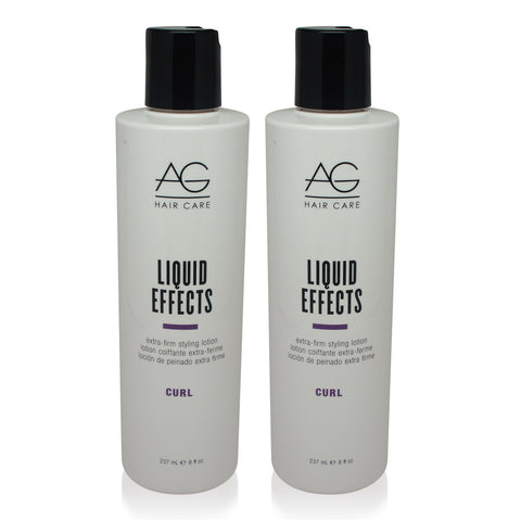 AGHAIR ~ LIQUID EFFECTS EXTRA FIRM STYLING LOTION ~ 8 OZ 2 PACK