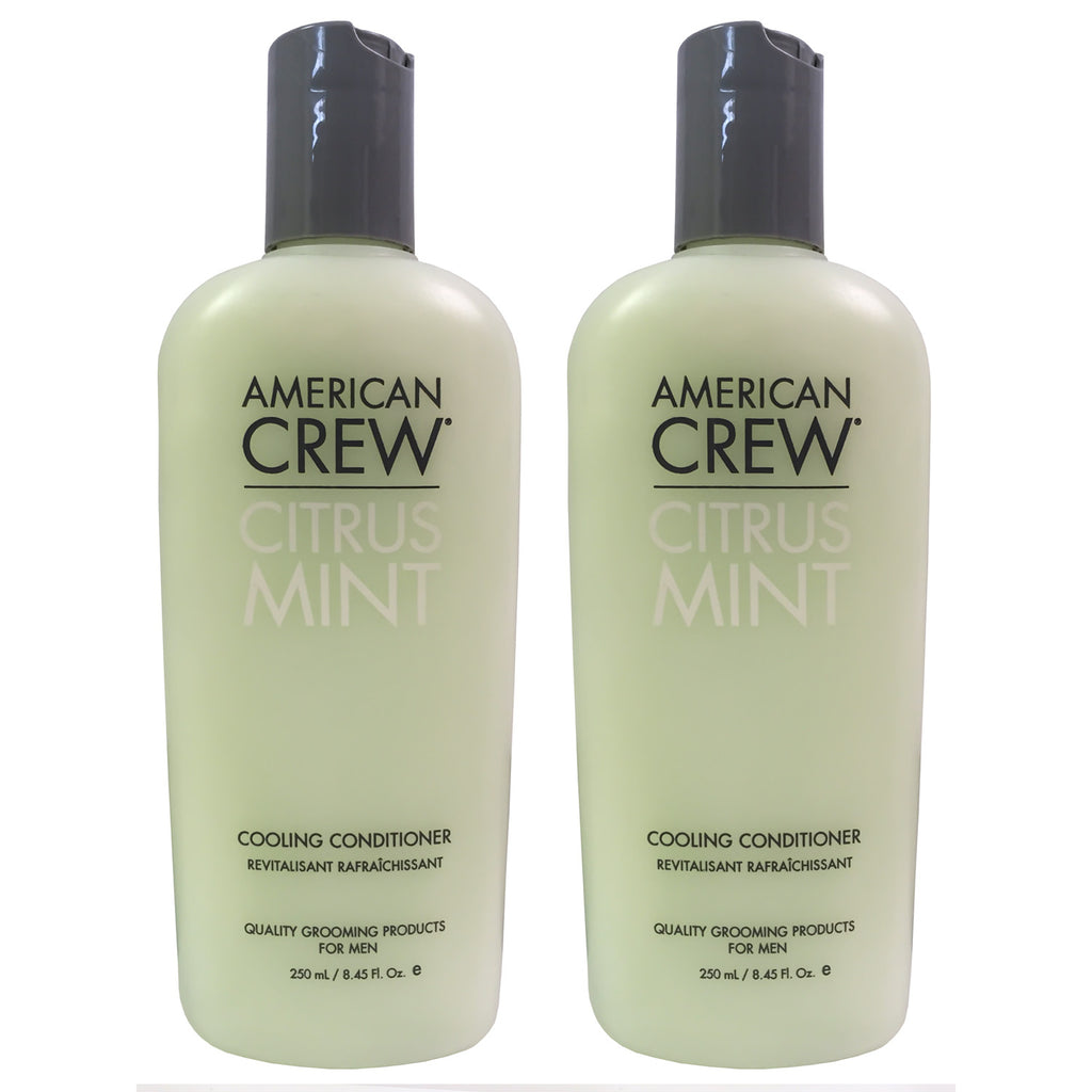 AMERICAN CREW | Citrus Mint Cooling Conditioner (8.45 oz) | 2 Pack | All Hair Types