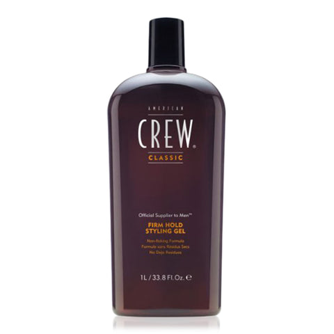 American Crew Firm Hold Styling Gel (33.8 Oz) - Non-Flaking - Alcohol-Free
