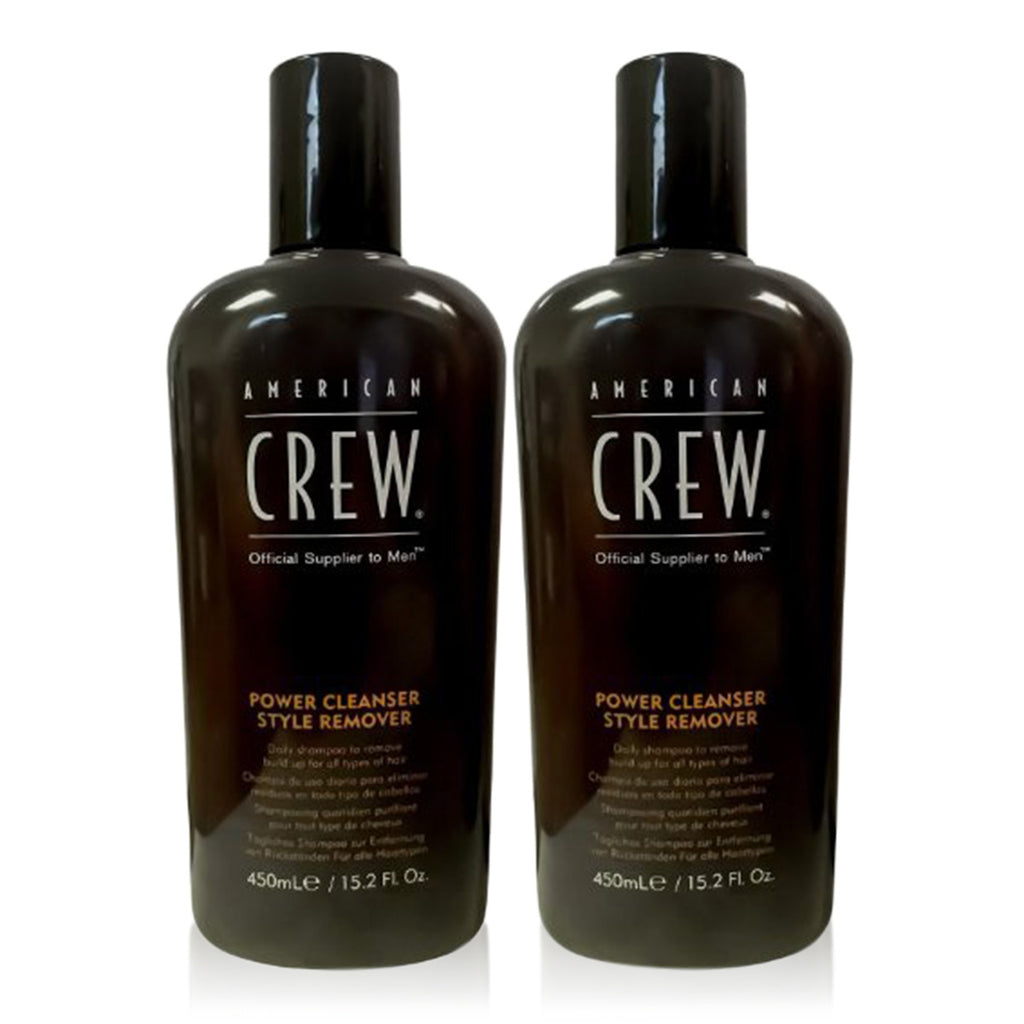 American Crew Power Cleanser Style Remover (15.2 fl oz) - 2 Pack - Daily Shampoo - For Men