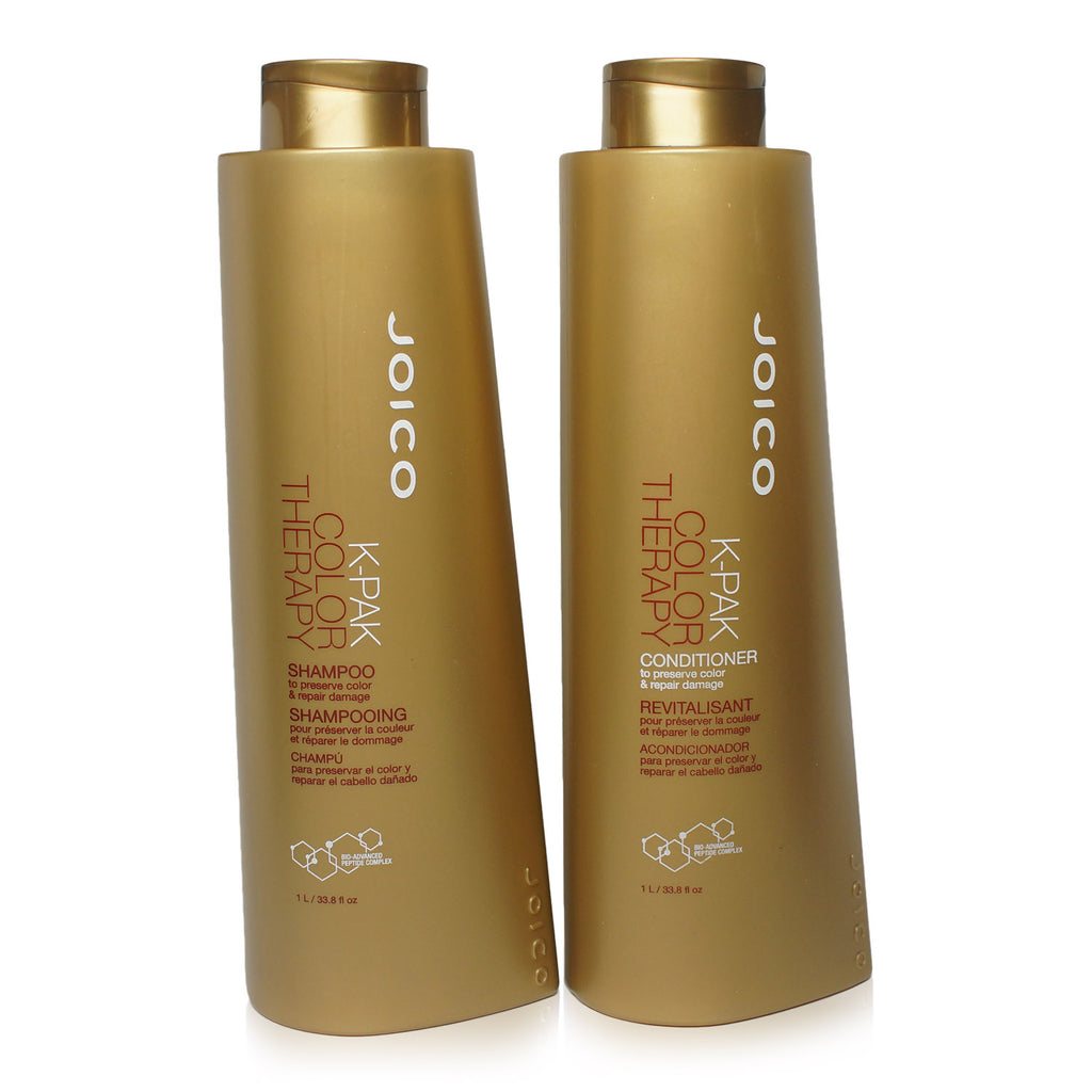 JOICO | K-PAK COLOR THERAPY | SHAMPOO AND CONDITIONER1 LITER COMBO PACK | no pump