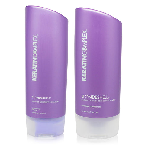 KERATIN COMPLEX ~ BLONDESHELL COMBO PACK SHAMPOO & CONDITIONER 13.5 OZ ~ NEW