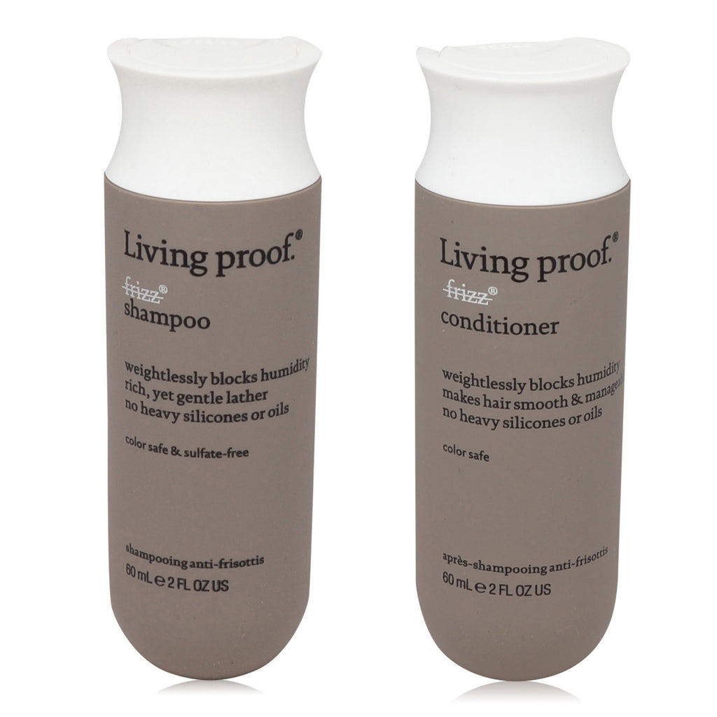LIVING PROOF | NO FRIZZ | SHAMPOO AND CONDITIONER | TRAVE SIZE COMBO