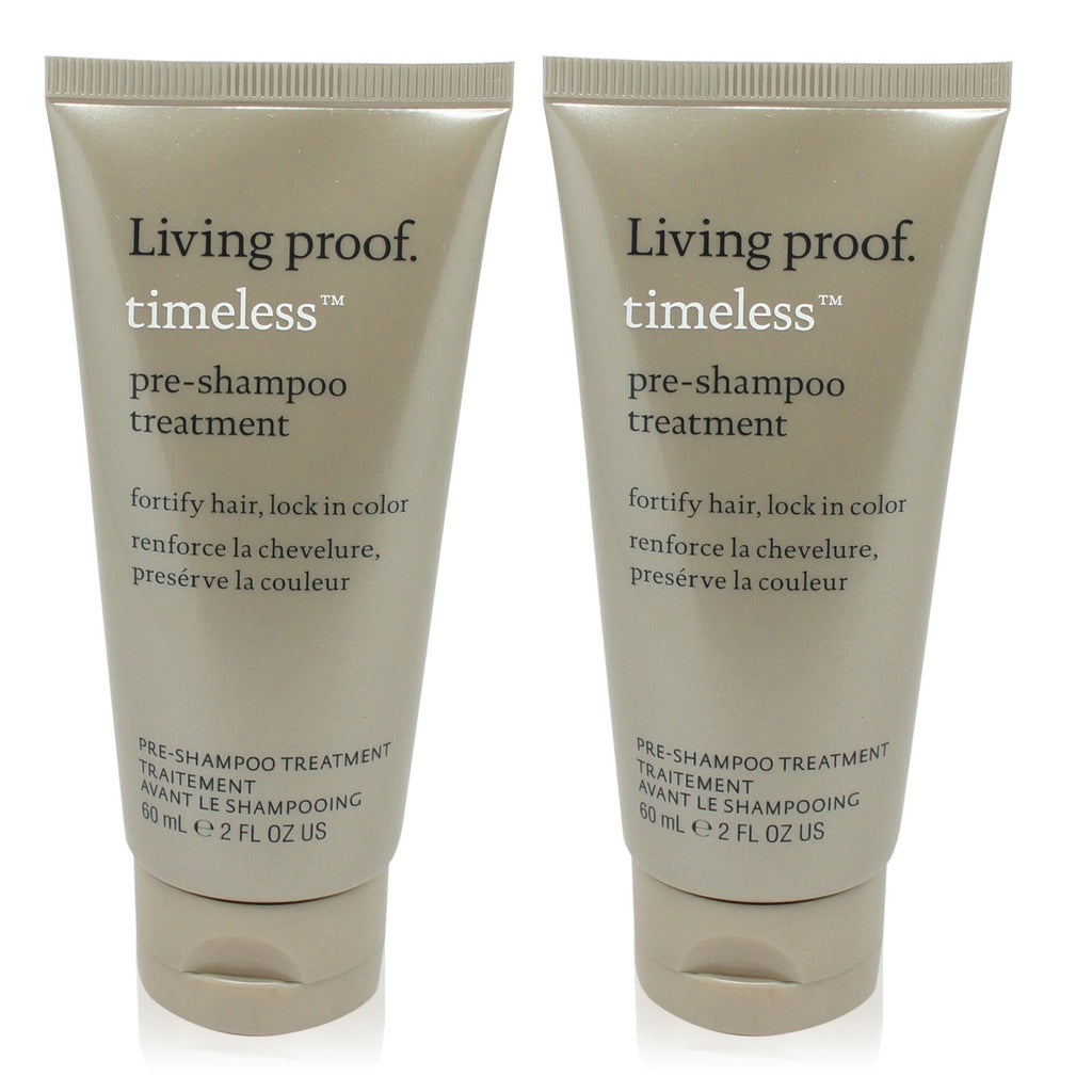 LIVING PROOF | TIMELESS | PRE-SHAMPOO | TRAVEL SIZE 2 PACK