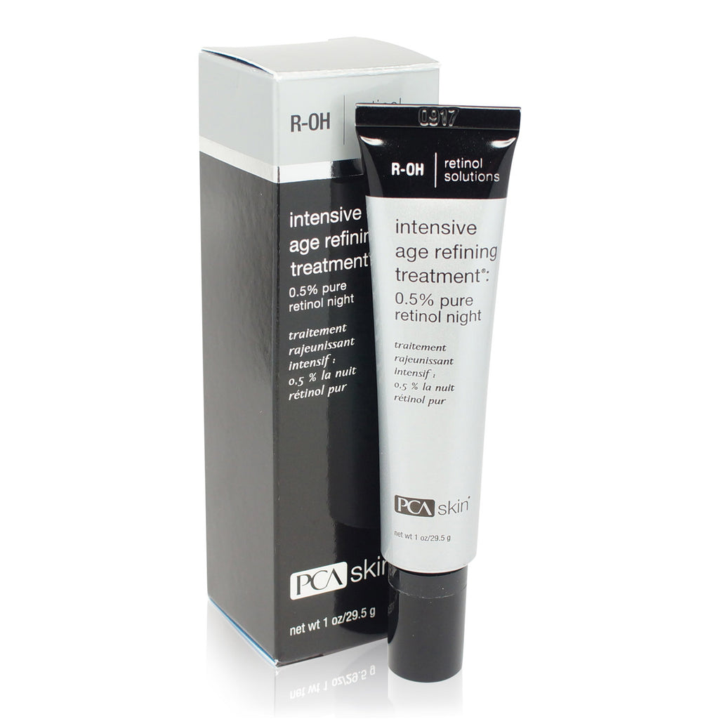 PCA SKIN ~ INTENSIVE AGE REFINING TREATMENT: 0.5% PURE RETINOL NIGHT ~ 1OZ New Improved Packaging