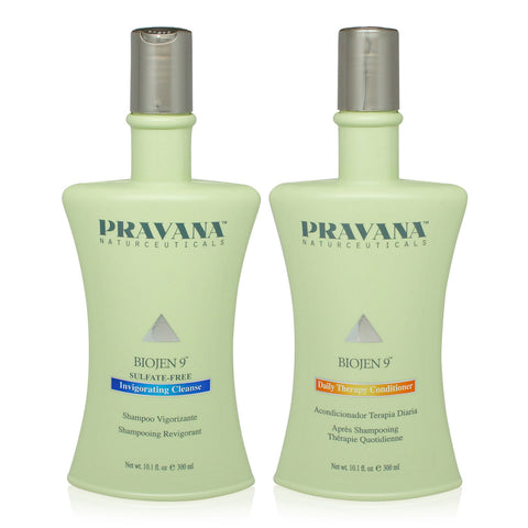 PRAVANA | BIOJEN 9 INVIGORATING CLEANSE AND DAILY THERAPY CONDITIONER 10 OZ COMBO PACK