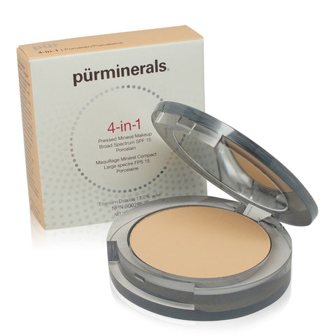 PURMINERALS ~ FACE FOUNDATION 4 IN 1 PRESSED MINERAL MAKEUP SPF15 ~ BLUSH MEDIUM