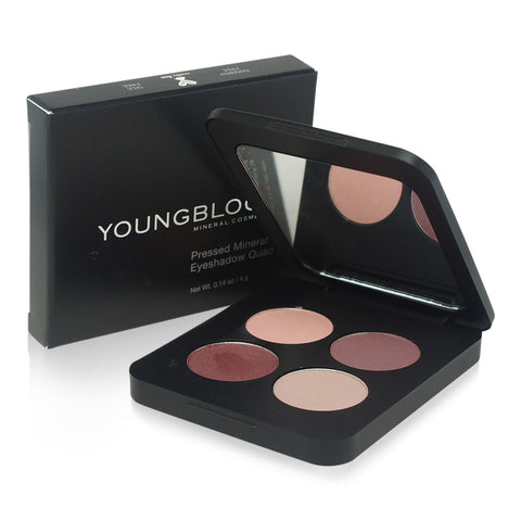 YOUNGBLOOD ~ PRESSED MINERAL EYESHADOW QUAD-VINTAGE