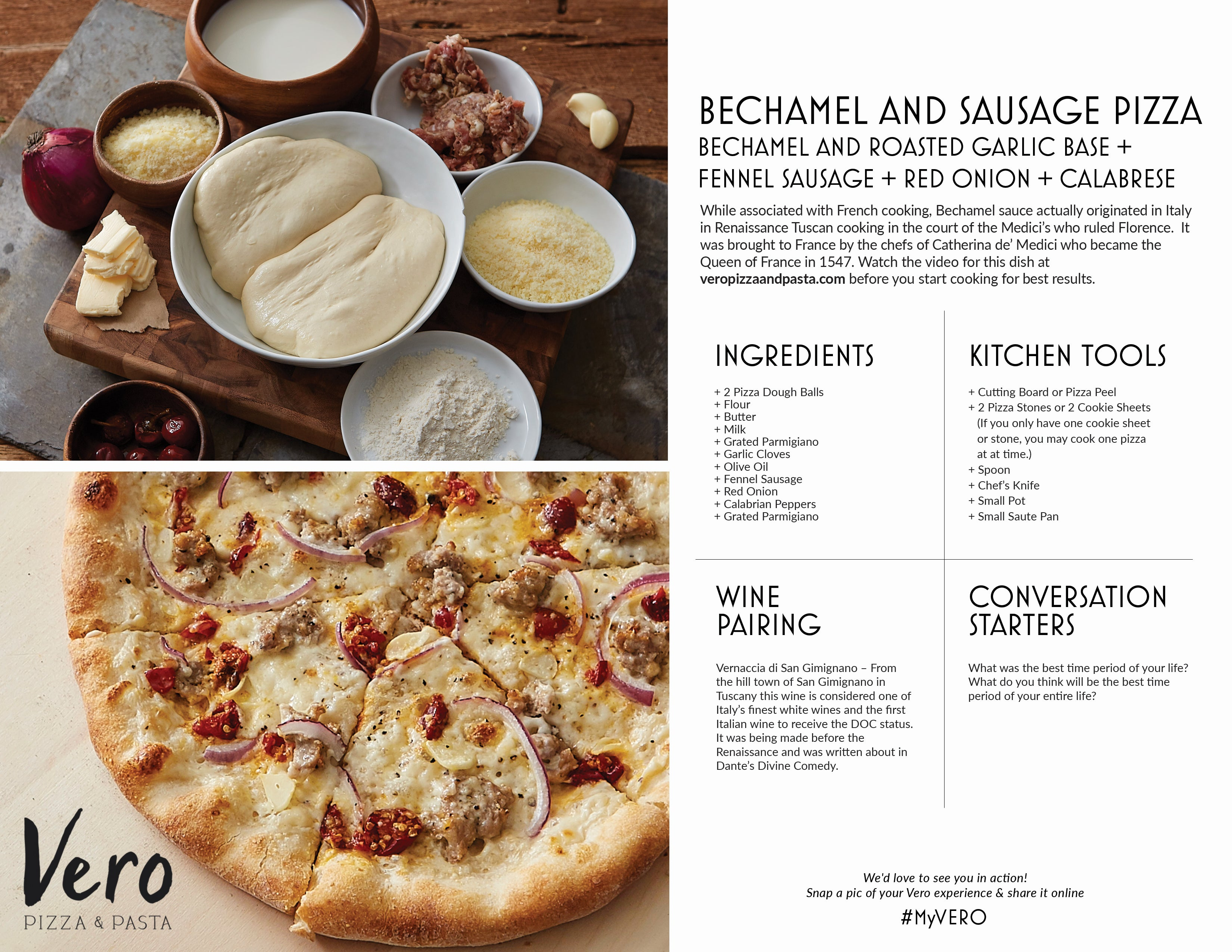 Bechamel and Sausage Pizza