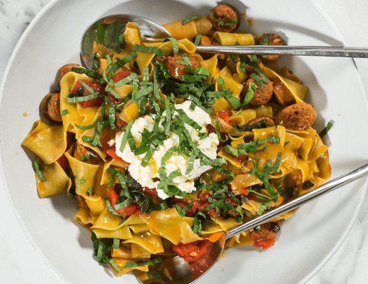 Straw and Hay Pappardelle