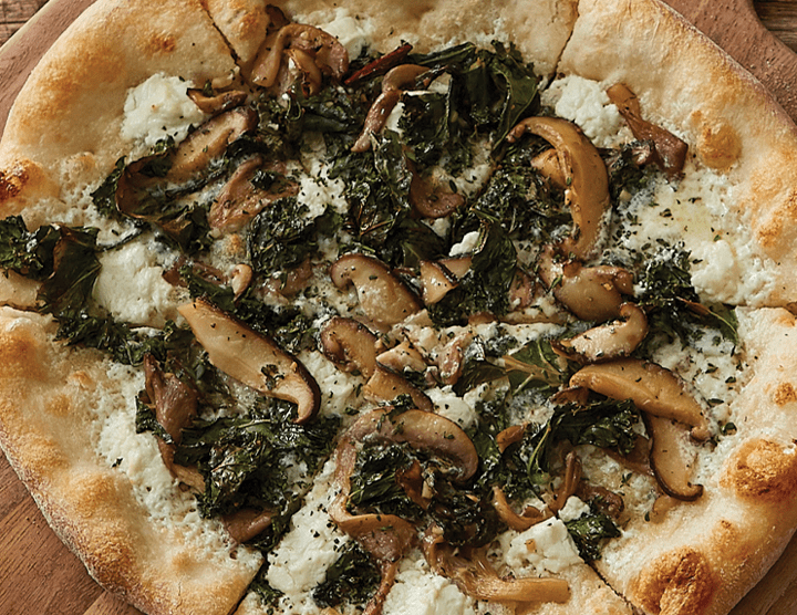 Greens and Mushroom Pizza