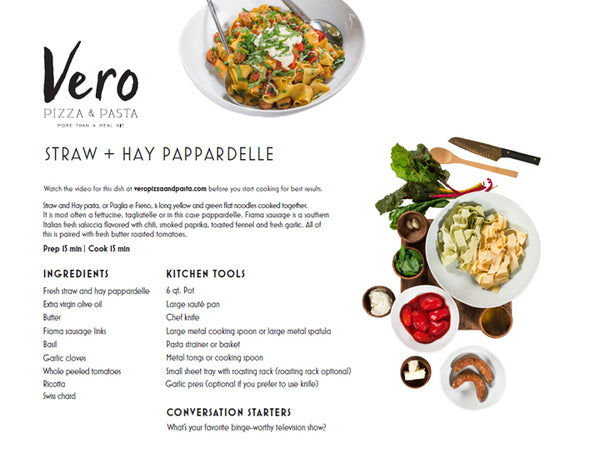 straw hay pappdardelle
