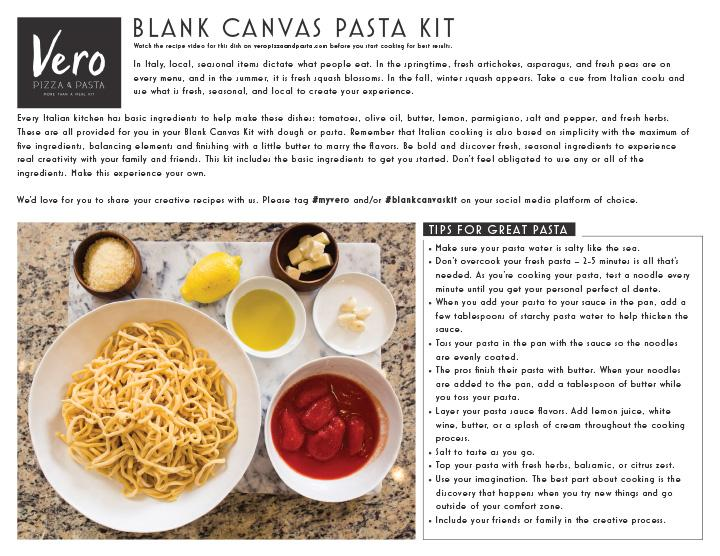 Blank Canvas Pasta Kit
