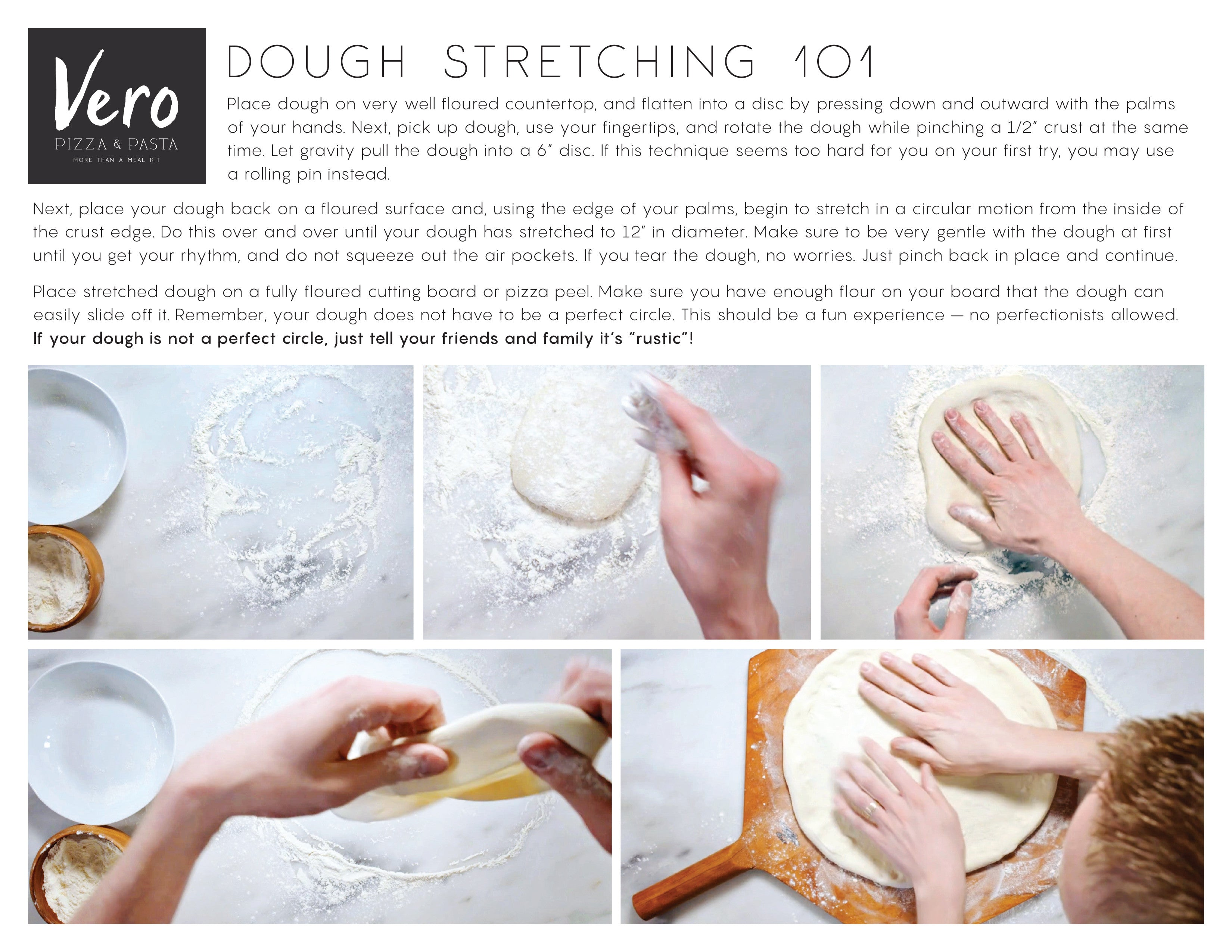 Vero dough stretching instructions