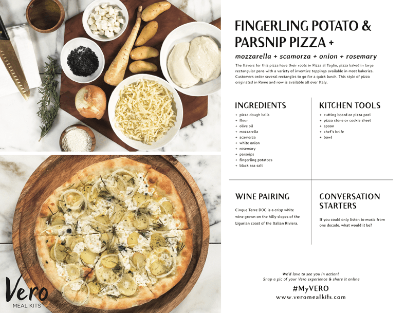 Fingerling Potato and Parsnip Pizza