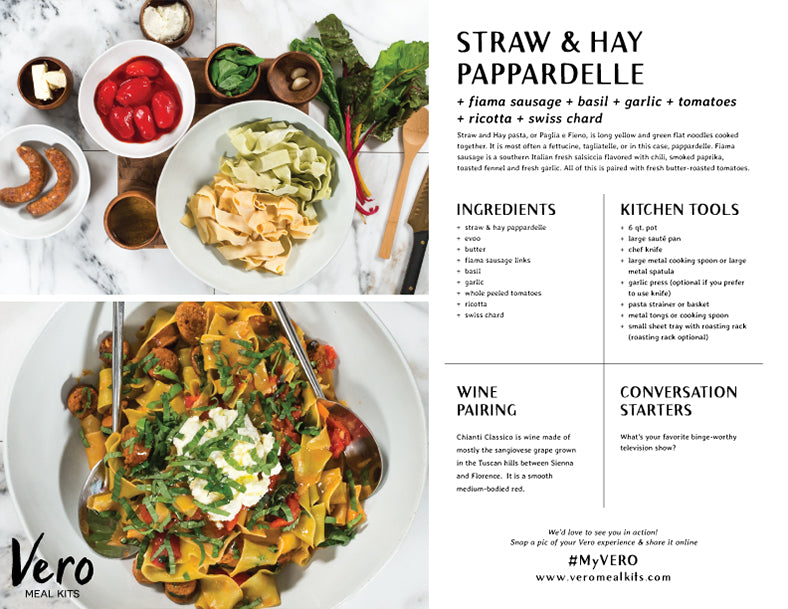 Straw and Hay Pappardelle Recipe Card