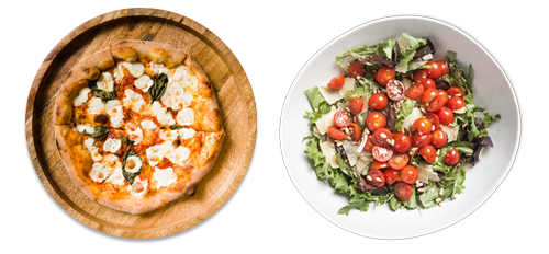 Margherita Pizza & Mista Salad for 4