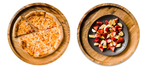 Kids Cheese Pizza & Fruit Salad Kit for 4