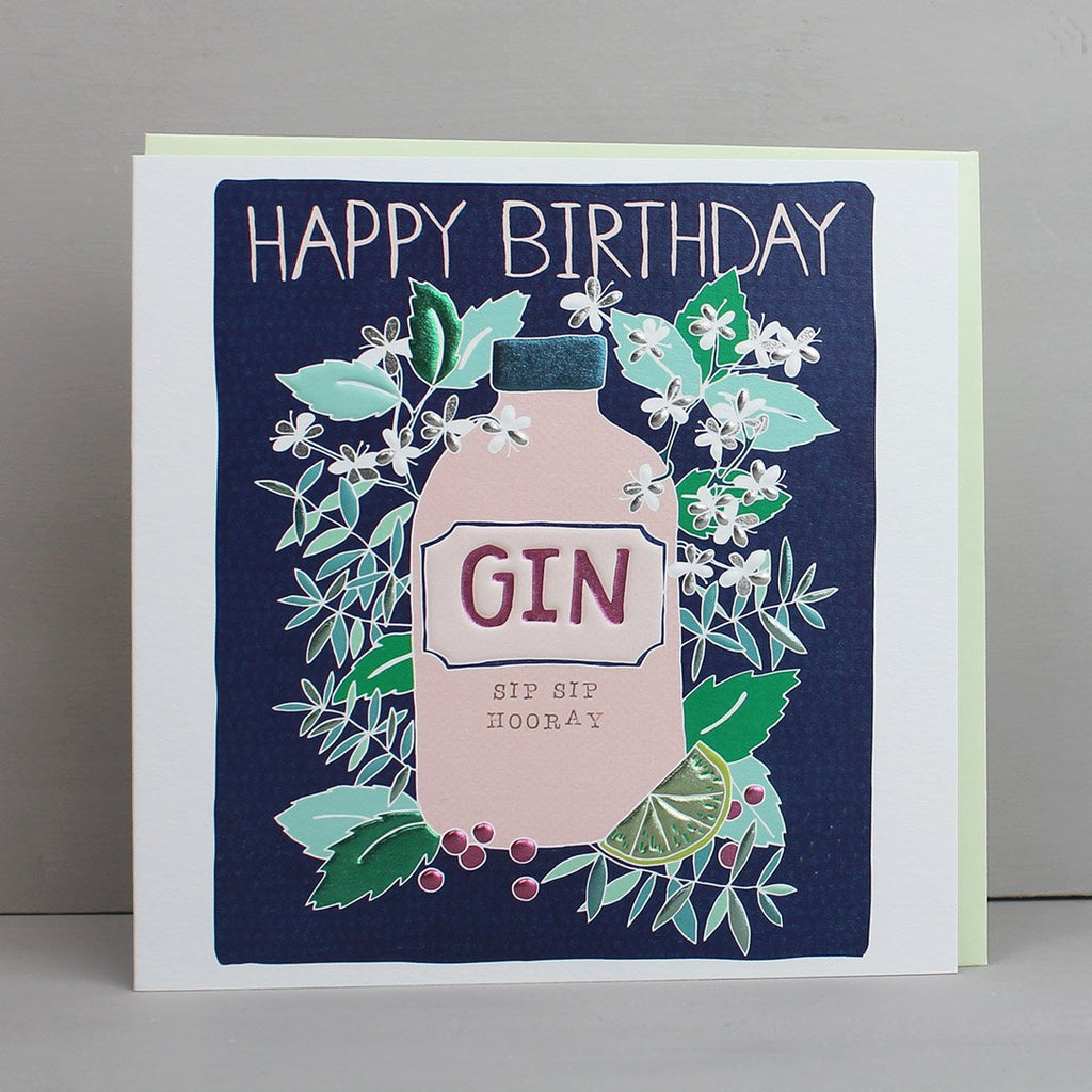 Happy Birthday Card - Gin Theme