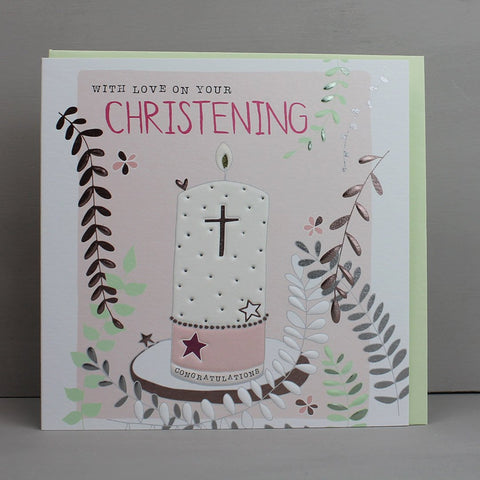 Girl Christening Card